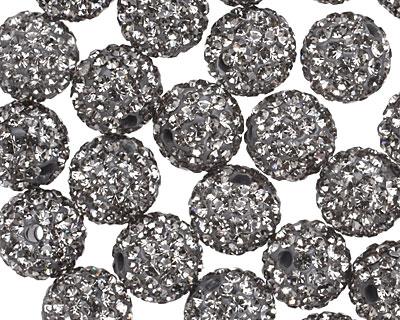 Black Diamond Pave (w/ Preciosa Crystals) Round 10mm