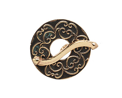 Saki Bronze Simple Damask Toggle 23mm, 25mm bar