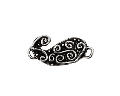 Rustic Charms Sterling Silver Small Paisley Link 25x12mm