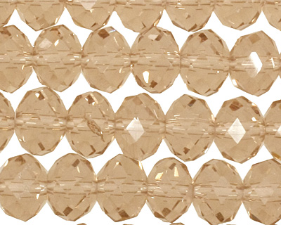Champagne Crystal Faceted Rondelle 8mm