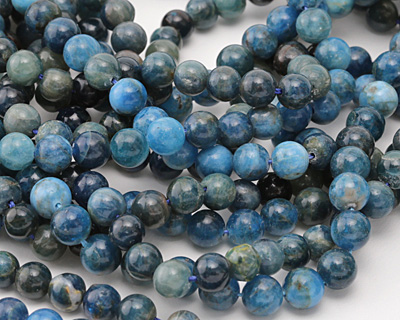 Pacific Blue Apatite Round 8-9mm