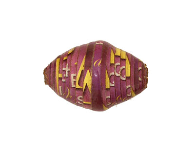 African Paper (purple, pink w/yellow) Rice 24-26x16-17mm