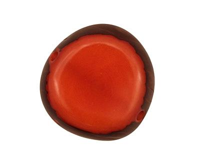 Tagua Nut Orange Banana Chip 22-29x16-22mm
