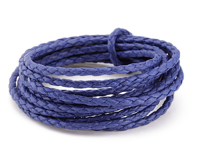 Blue Braided Cotton Bolo Cord 3mm