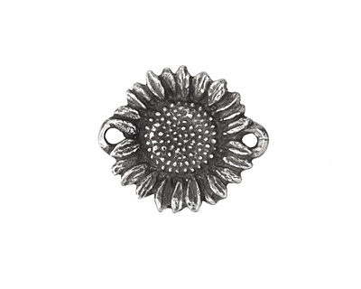 Green Girl Pewter Sunflower Link 30x21mm