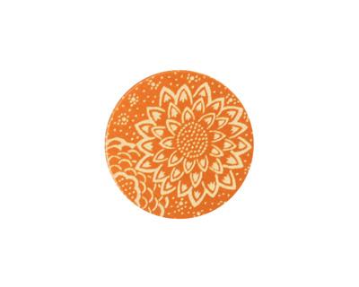 Lillypilly Orange Dahlia Anodized Aluminum Disc 19mm, 24 gauge
