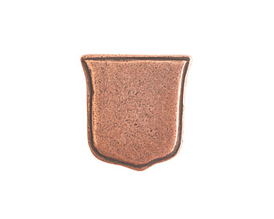 Nunn Design Antique Copper (plated) Crest Ensign Tag 17mm