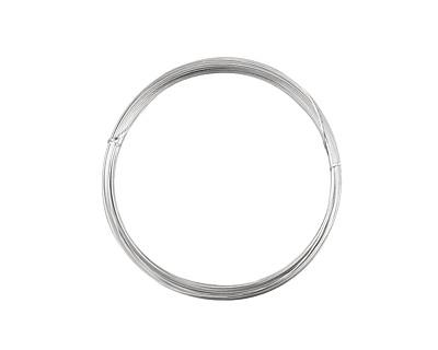 German Style Wire Silver (plated) Half Round 21 gauge, 4 meters