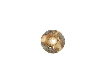 The BeadsNest Lampwork Glass Ivory Saucer 4-5x14-16mm