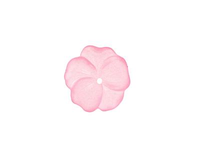 Matte Rose Lucite Buttercup Flower 4x14mm