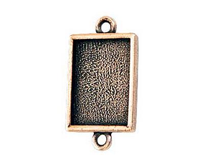 Nunn Design Antique Copper (plated) Mini Rectangle Frame Link 22x12mm