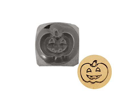 Pumpkin Metal Stamp 6mm
