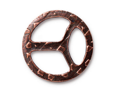 TierraCast Antique Copper (plated) Tribuckle 28mm