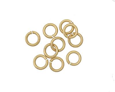 Matte Gold (plated) Jump Ring 6mm, 17 gauge
