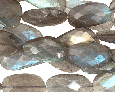 Labradorite Faceted Freeform Slab 23-28x13-14mm