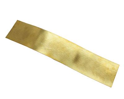 Brushed Patterned Brass Strip 2.5