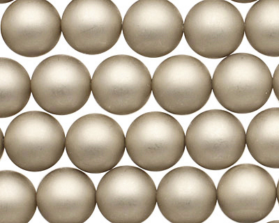 Champagne (matte) Shell Pearl Round 10mm