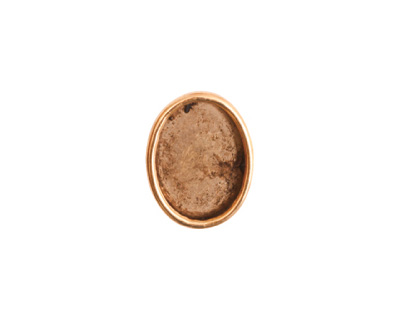 Nunn Design Antique Gold (plated) Small Oval Frame Button 13x16mm