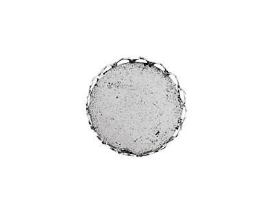 Nunn Design Antique Silver (plated) Vetri Lace Circle Bezel 15mm