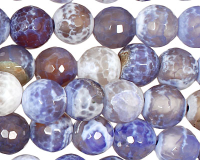 Blue Fire Agate Faceted Round 10mm