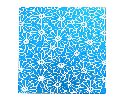 Lillypilly Turquoise Daisy Anodized Aluminum Sheet 3