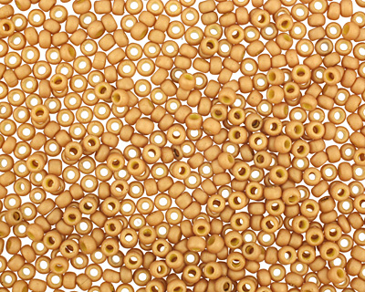 TOHO Opaque Frosted Gold Luster Yellow Round 11/0 Seed Bead