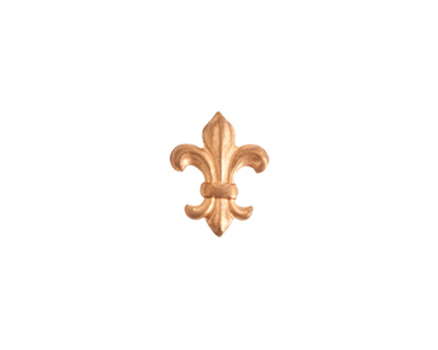 Nunn Design Brass Mini Fleur Embellishment 10x13mm