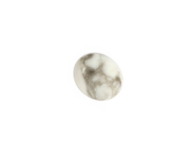 White Howlite Oval Cabochon 10x12mm