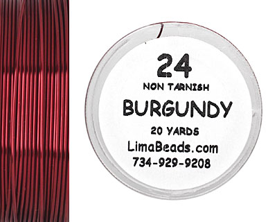 Parawire Burgundy 24 Gauge, 20 Yards