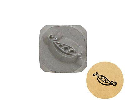 Pea Pod Metal Stamp 5mm