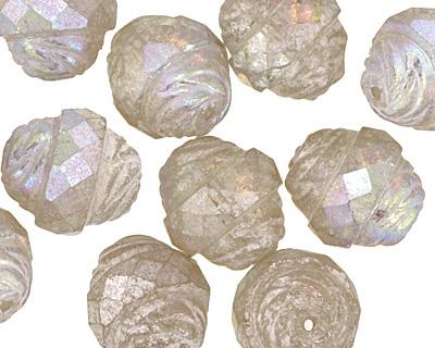 Czech Glass Crystal Clear AB w/ Mercury Finish Turbine 15x13mm