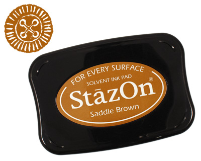 StazOn Saddle Brown Solvent Ink Pad