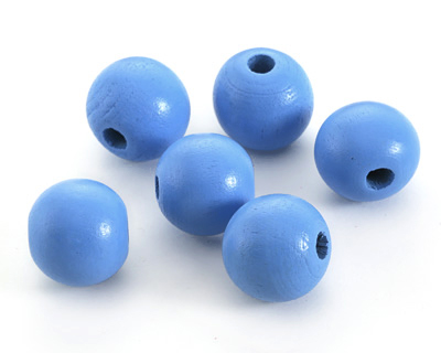 Alice Blue Wood Round 20mm