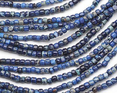 Midnight Blue Impression Jasper Tumbled Cube 3-4mm