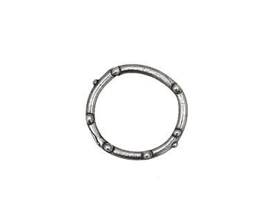 Rustic Charms Sterling Silver Round Dotted Link 15mm