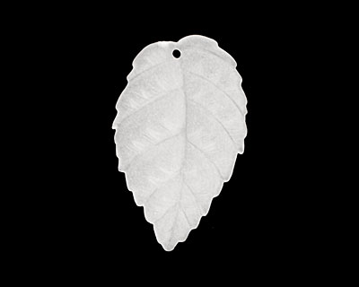 Matte Crystal Lucite Ivy Leaf 17x28mm