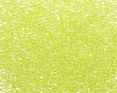 TOHO Transparent Lime Green Round 15/0 Seed Bead