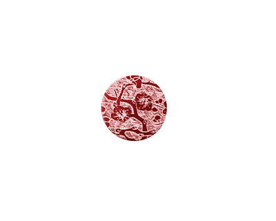 Lillypilly Red Cherry Blossom Anodized Aluminum Disc 11mm, 24 gauge
