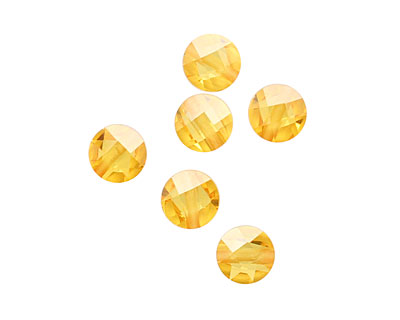 Sunshine Faceted Coin 6mm