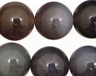 Gray Agate Round 18mm