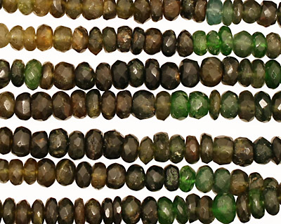Green Tourmaline Faceted Rondelle 4.5-5mm
