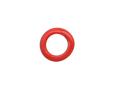 African Recycled Glass Pepper Red Dogun Mini Ring 10-14mm