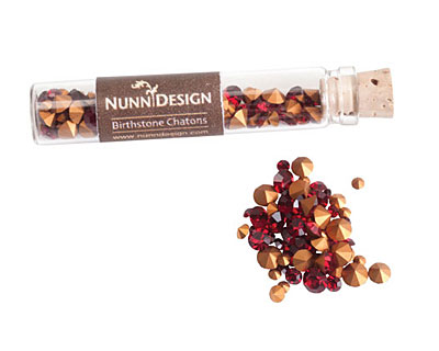 Nunn Design Ruby Crystal Chaton 5g