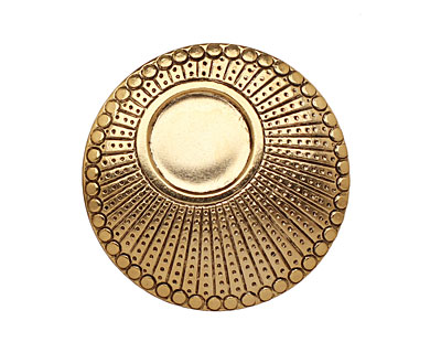 Stampt Antique Gold (plated) Dotted Setting 34mm (no drill hole)