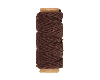 Black-Brown Hemp Twine 20 lb, 29 ft