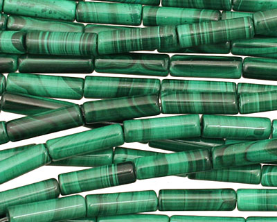Malachite Tube 13x4mm