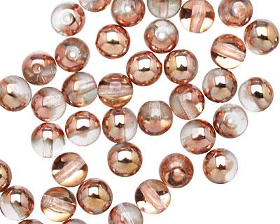 Czech Glass Apollo Gold Round 6mm