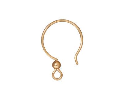 TierraCast Gold Filled Earwire Loop w/ 3mm Bead