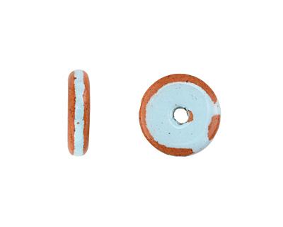 Greek Pueblo Ceramic Arctic Blue Washer 2-3x12-13mm