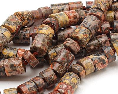 Leopardskin Jasper Barrel Rondelle 10mm